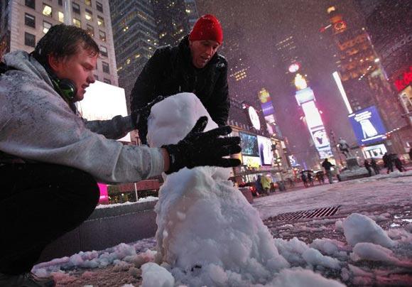 برف پاییزی در نیویورک