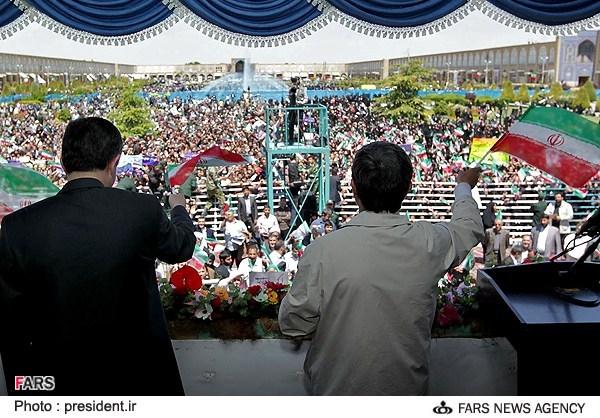 احمدی نژاد در اصفهان