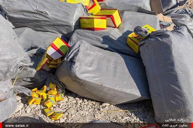 انواع ترقه قیمت امحاء 65 هزار عدد ترقه در کنگان بوشهر (+عکس)