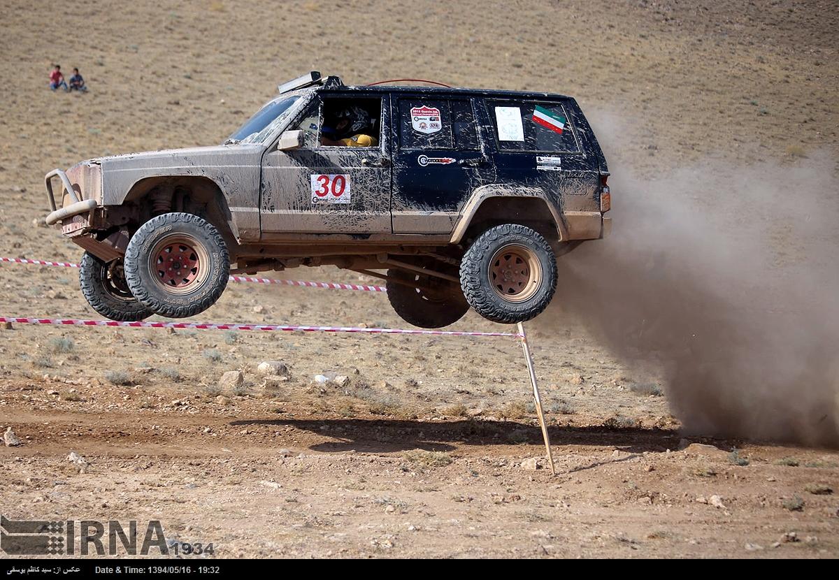 دیوار کردستان مسابقات اتومبیلرانی آفرود (عکس)