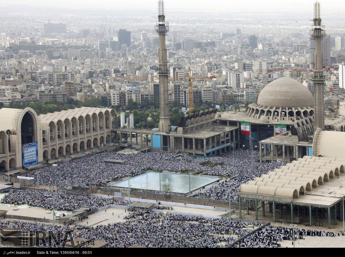 گروه تلگرام 206 اقامه نماز عید فطر در مصلی تهران (عکس)