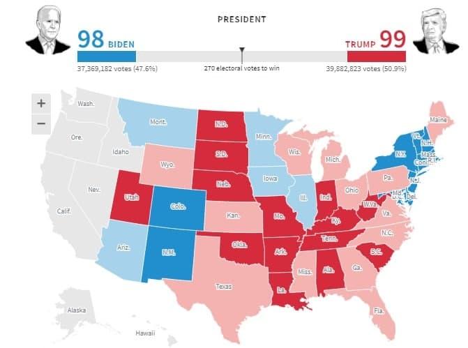 انتخابات امریکا/ جو بایدن: هرچقدر طول می کشد در صف بایستید/ ترامپ: پیروزی آسان است، اما شکست آسان نیست