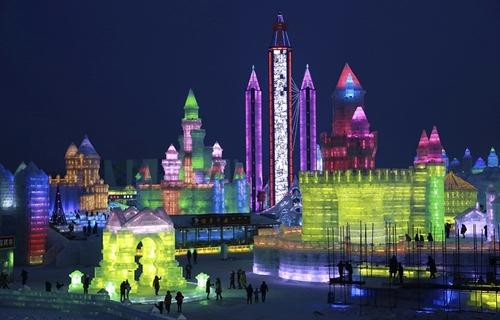 نمایشگاه سازه های یخی در هاربین چین