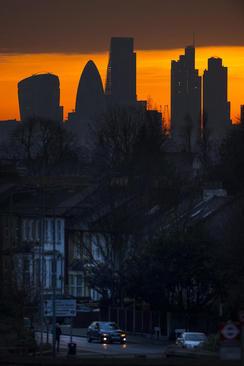 غروب زمستانی لندن