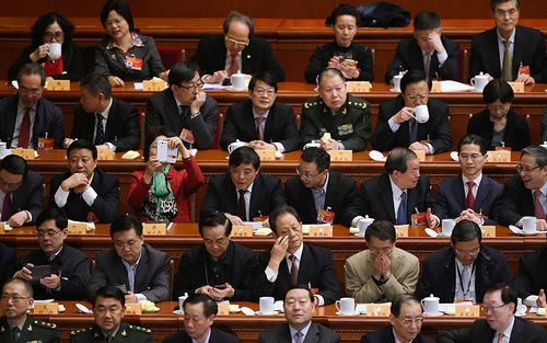 نمایندگان در جلسه کنگره ملی خلق چین