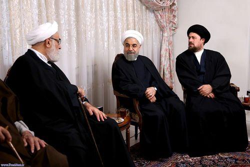 resized 448863 597 حضور مسئولان نظام در منزل حسن روحانی (عکس)
