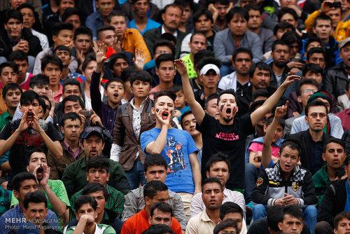 هواداران فوتبال ایران و افغانستان