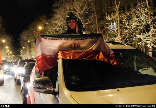 عکس و فیلم شادی مردم بعد از توافق هسته ای,توافق لوزان