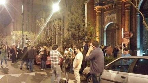 تجمع ابراز خوشحالی از توافق هسته ای مقابل وزارت خارجه ایران