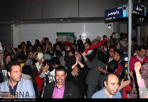 شادی هسته ای در ونک و سعادت آباد تهران+عکس