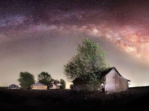 نمایی از کهکشان راه شیری (تگزاس)