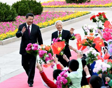 استقبال هو جین تائو رییس جمهور چین از همتای ویتنامی خود در پکن