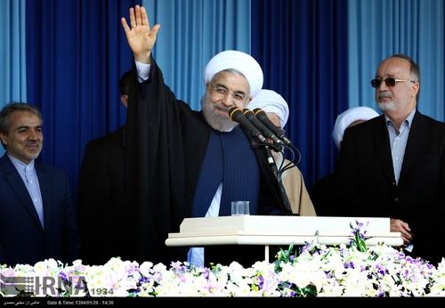 سخنان آقای روحانی در اجتماع مردم رشت