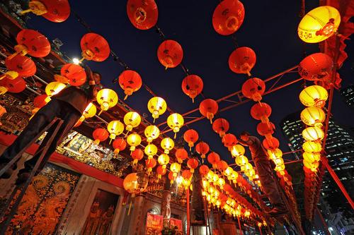 چراغانی شهر سنگاپور برای یک جشنواره