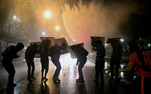 اعتراضات دانشجویی در شهر سانتیاگو شیلی