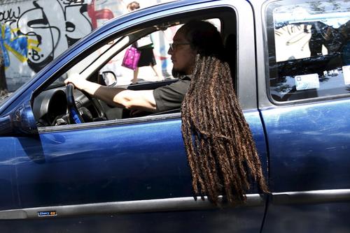یک راننده در شهر مکزیکو سیتی