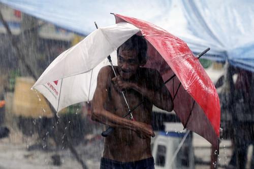 محله فقیر نشین شهر کوزون در فیلیپین