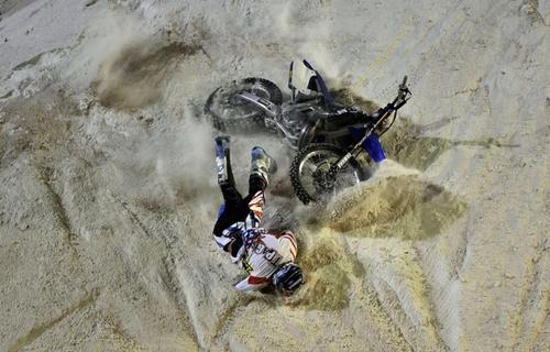 حادثه در مسابقات موتورسواری آتن 2015