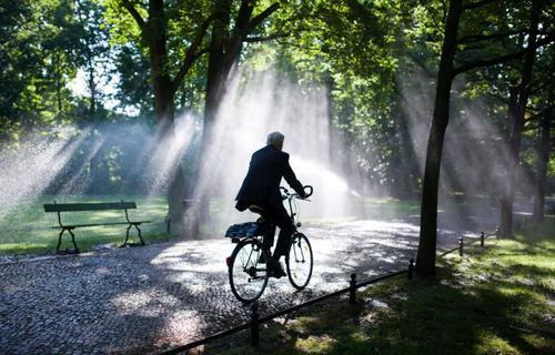 پارک عمومی در شهر برلین پایتخت آلمان