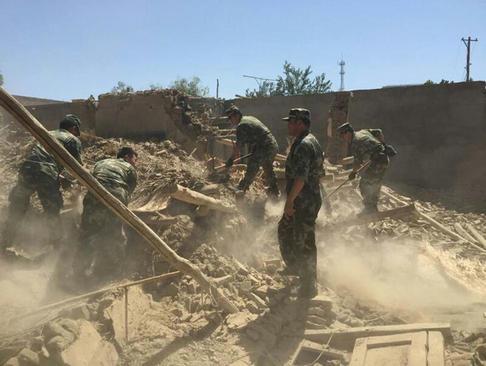 زلزله 6.5 ریشتری در شهر پیشان در منطقه اویغور نشین چین