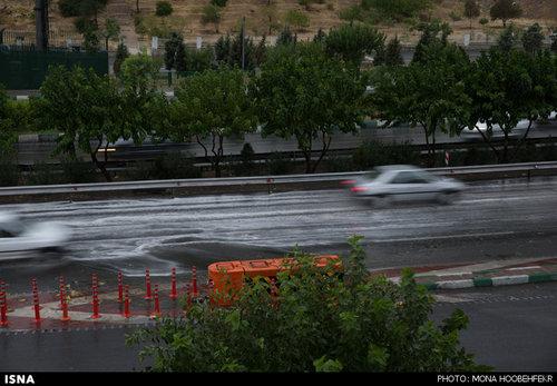 تصاویری دیدنی از توفان تهران و کرج