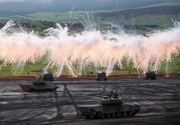 رزمایش نیروهای نظامی در ژاپن