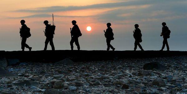 آماده باش سربازان ارتش کره جنوبی در منطقه مرزی با همسایه متخاصم شمالی
