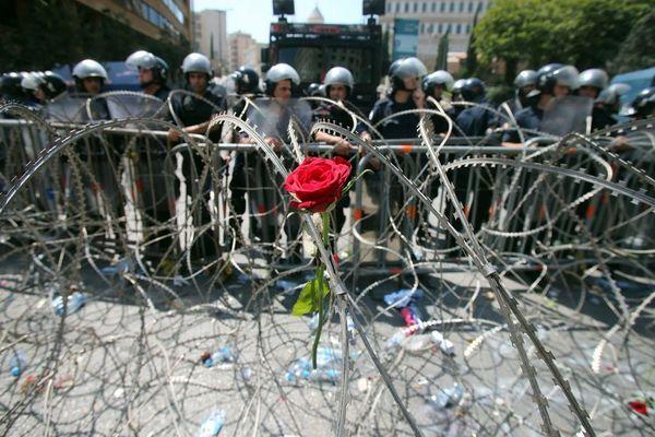اعتراضات به بحران انباشت زباله در بیروت