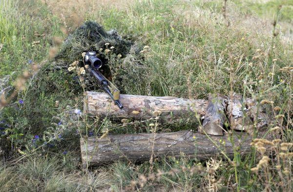 تک تیرانداز استتار شده ارتش اوکراین در شرق این کشور