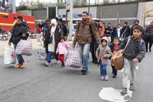 رسیدن مهاجران سوری به شهر دورتموند آلمان