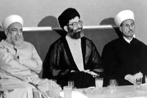 دیدار حضرت آیتالله خامنهای با علمای اهل سنت در سوریه
