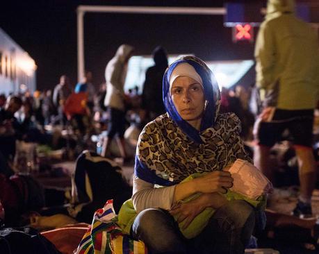 کمپ پناهجویان در مرز کرواسی و اسلونی