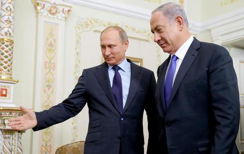 استقبال پوتین از نتانیاهو در اقامتگاه