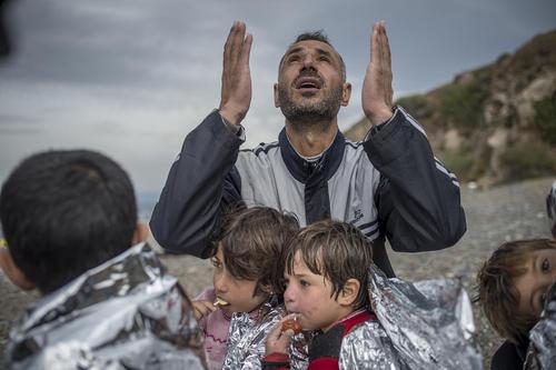 ورود پناهجویان آسیایی به جزیره لسبوس یونان