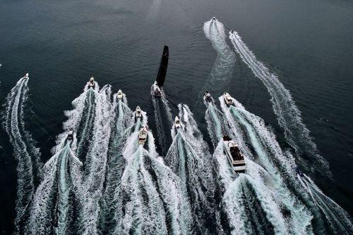 مسابقه قایق های موتوری در سواحل بارسلونا اسپانیا