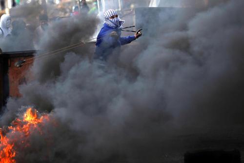 ادامه اعتراضات ضد اسراییلی جوانان فلسطینی – رام الله