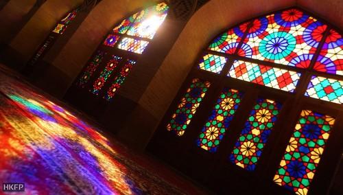 طلوع آفتاب در مسجد نصیر الملک در شیراز