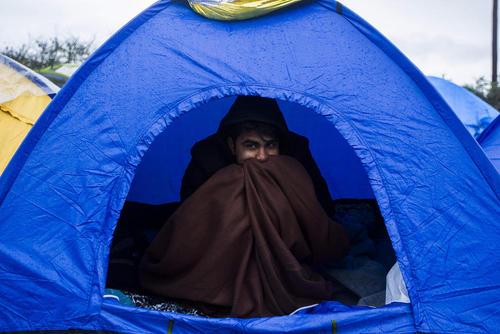 کمپ پناهجویان خاورمیانه ای در یونان