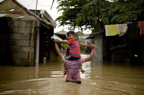 سیلاب در حومه شهر مانیل فیلیپین