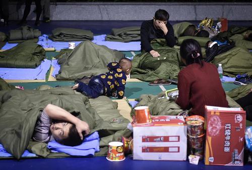 اسکان موقت آسیب دیدگان رانش زمین در شنزن چین