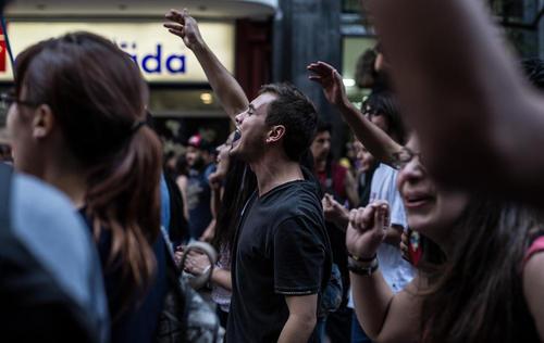 تظاهرات دانشجویی در سانتیاگو شیلی