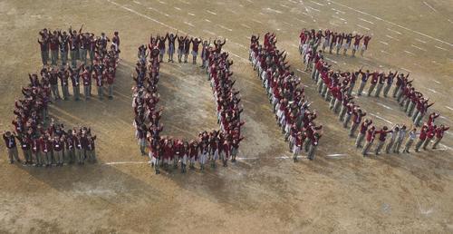 استقبال دانش آموزان مدرسه ای در شهر آگارتالا هند از سال 2016