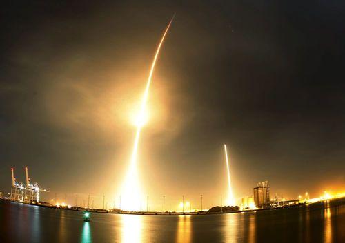 پرتاب موشک فالکون در فلوریدا