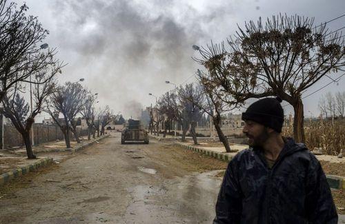 ارتش سوریه در فرودگاه نظامی مارج السلطان در جنوب شرقی دمشق
