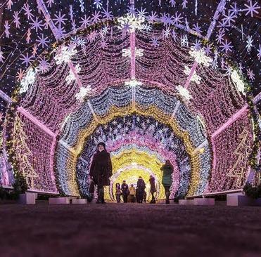 چراغانی سال نو میلادی در مسکو