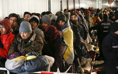 حرکت گسترده تر مهاجران از خاورمیانه به اروپا