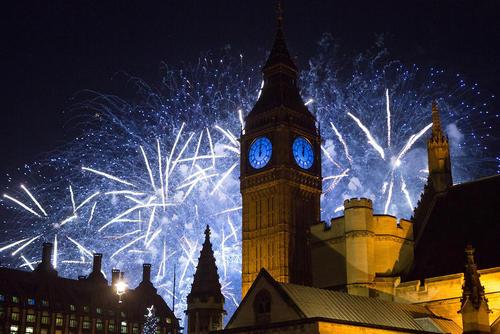 جشن ورود به سال 2016 - لندن، انگلستان