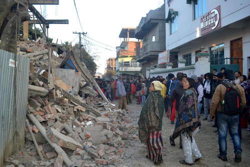 زلزله در شهر ایمفال هند