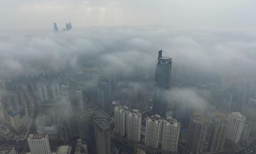 آلودگی هوا در شهر نانینگ چین