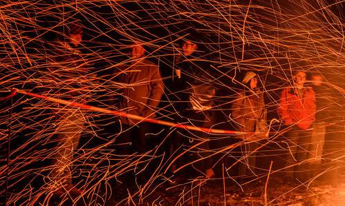آتش بازی در شهر پوتینشتین در ایالت بایرن آلمان